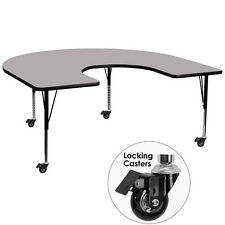 Mobile 60 W x 66 L Horseshoe Activity Table w/Grey Thermal Fused Laminate Top