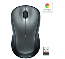 Logitech Full Size Wireless Mouse -Works with Chromebook - Silver