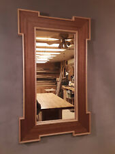 Handcrafted Regency Style Mirror African Mahogany and Sugar Maple
