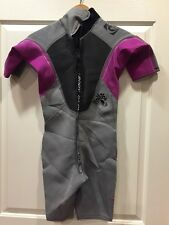 Body Glove Womens Shorty Crush Wetsuit  Pink & Grey Size 7/8 RCP