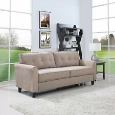 Classic Ultra Comfortable Brush Microfiber Fabric Living Room Sofa (Hazelnut)