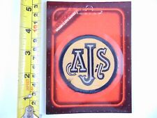 Genuine Original Motorcycle AJS - Paddy Hopkirk 1960/70s Woven Cloth Patch Badge