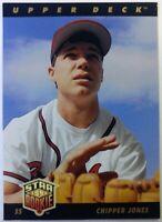 1993 93 Upper Deck Star Rookie Chipper Jones #24, Atlanta Braves, HOF