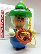 STEINBACH Bavarian Man with Pretzel ornament Handmade NIB