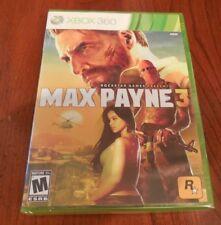Max Payne 3 (Microsoft Xbox 360, 2012) New Sealed