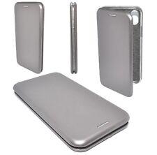Etui Housse Cuir Pu Premium Folio Argent Silver Apple iPhone X
