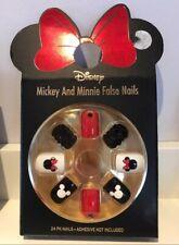 Disney false nails Primark Mickey Minnie Mouse Glitter 3D Gems Black Red