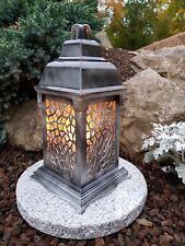 Grablaterne+ LED+ Granit Sockel Grablampe Grableuchte Grablicht Grabschmuck NEU