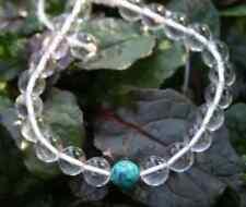 Turquoise Satyaloka Azeztulite Bracelet Peace Light Healing Crystal