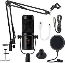 Kondensator Mikrofon Set Professionell Tisch Studio Stativ Zubehör unvollständig