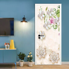 3D Jewelry Flower Self-Adhesive Living Room Door Murals Wall Sticker Wallpaper