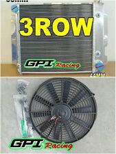 ALUMINUM RADIATOR FOR JEEP WRANGLER TJ/YJ CHEVY V8 SWAP CONVERSION AUTO+FAN