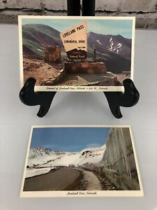 Arapaho National Forest Sign, Loveland Pass Continental Divide CO Postcard