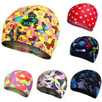 Lycra Print Elastic Swimming Hat Bathing Cap For Kids Boy & Girl Youth Gift