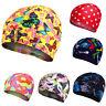 Lycra Print Elastic Swimming Hat Bathing Cap For Kids Boy & Girl Youth Gift
