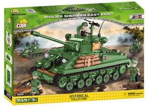 Cobi 2533 (745pcs) - US M4A3E8 Sherman (Easy Eight) Tank - Building Blocks WWII