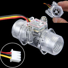 "G1/2"" Water Flow Hall Sensor Switch Flow Meter Flowmeter Counter 1-30L/min"