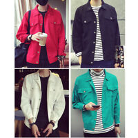Men Casual Retro Fashion Jacket Spring Loose Nightclub Bar Coat Outwear Solid