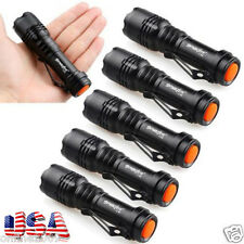 6PCS CREE Q5 2000LM LED Flashlight Torch Lamp Adjustable Focus Light Bright US