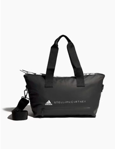Adidas NEW Stella McCartney Black Nylon Gym Studio Zip Weekender Bag
