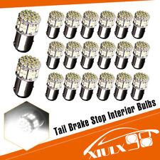 20x White 1157 BAY15D 50SMD DRL RV Camper Trailer Brake LED Light Bulb 1152 7528