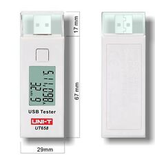 UNI-T UT658 USB Tester Phone Computer Charging Voltage Current Energy Monitor