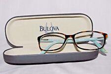 BULOVA Women's Eyeglasses Frames w/Case IXTAPA 53[]16-140 HAVANA/MINT
