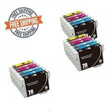Reman Black Color 78 Ink Cartridges For Epson Artisan 50 Stylus Photo RX580 R260