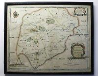 Robert Morden Kolorierte Karte Rutland um 1700 Großbritannien England rara xz