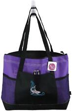 Shark on Wave Purple Gemline Select ZipperedTote Beach Vacation Bag Gift NWT