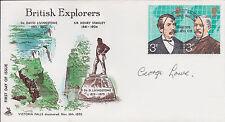 1953 EVEREST Climber George LOWE SIGNED FDC AFTAL Autograph COA British Explorer