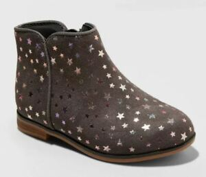 Toddler Girls' Penelope Fashion Boots Gray With Stars - Cat & Jack - SIZE 6