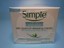 Lot x 3 Simple Sensitive Express Water Boost Sleeping Cream 1.7 oz