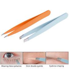 Point Tip/Flat Tip Eyebrow Tweezer Stainless Steel Eyes Tweezers Removal TooYJUS