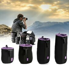 S M L XL Waterproof Neoprene Lens Bag Case Pouch For DSLR Camera Sony Canon
