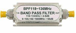BPF118-136 Filtro Paso Banda SMA / SMA