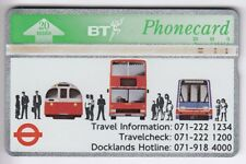 EUROPE  TELECARTE / PHONECARD .. U.K 20U BT L&G 222E TRAIN METRO BUS CAR LONDON