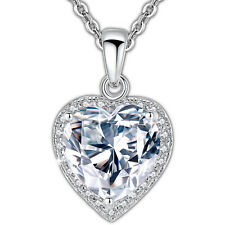 Heart Shape Necklace with Cubic Zirconia Pendant Jewelry for Women & Girls Gift