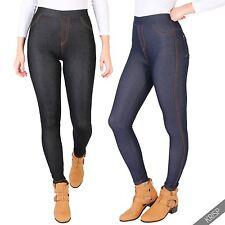 Damen-Leggings aus Polyester ohne Muster