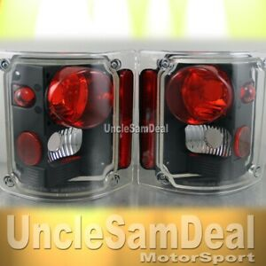 CHEVY SUBURBAN BLAZER GMC C/K TRUCK ALTEZZA CLEAR BLACK TAIL LIGHTS PAIR