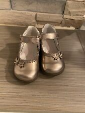 Primigi Toddler Girl Patient Taupe Dress Mary Janes Size 22 Or 5.5