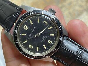 1969 Serviced Vintage Caravelle Sea Hunter Devil Diver 666 Feet Original Dial