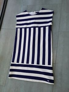 Genuine Tommy Hilfiger Dress Age 8-10 Navy White  striped Excellent Condition
