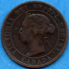 Canada 1899 1 Cent One Large Cent Coin - VG/F