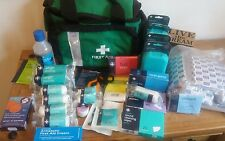 first aid bag complete with dressings wipes foil survival blanket first aid kits