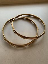 "Gold/brass Snare Drum Hoops Rims 14"" 10 Lug #318"