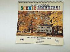 Vintage Calendar 1990 First National Bank Scenic America Washington Kansas
