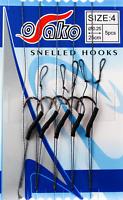 Karpfenhaken 5 Stk Boiliehaken Öhrhaken Angelhaken Gebunden Hair Rig Fishing
