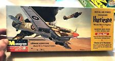 Vintage Monogram Royal Air Force Hawker Hurricane, 1/48 unassembled in box