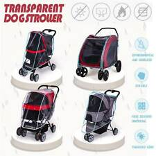 Cart Stroller Rain Cover Pet Cat Dog Carrier Outdoor Breathable Cage Bag W 600d